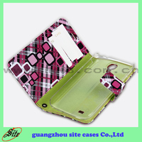 Replacement shells For samsung S4 book style leather wallet case for Samsung