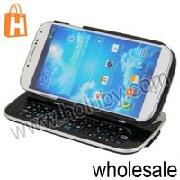Sliding Mini Bluetooth Keyboard for Samsung Galaxy S4 With Detachable 90 Degree Rotate Stand Case
