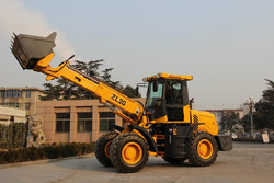 popular used telescopic wheel loader TL1500 with sand spreader, 1.5 ton mini backhoe loader for multi use