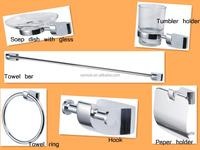 hotel,home bathroom zinc alloy 6 pcs chrome wall mounted bathroom accessory sets