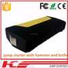 2015 Best portable jump starter with hammer and knife emergency battery operated power supply