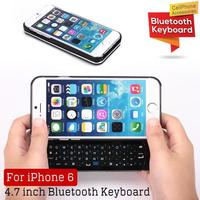 New arrival Ultra-thin Slide-out wireless V3.0 bluetooth keyboard for Apple iphone 6
