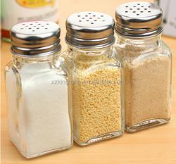80ml glassware spice jar glass cruet with screw cap for salt
