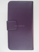 Products you can import from china purple book style case genuine leather case for iphone6