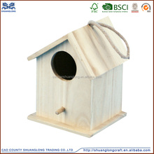 2016 latest design home decorated handmade wooden bird nest /wooden bird cages for sale