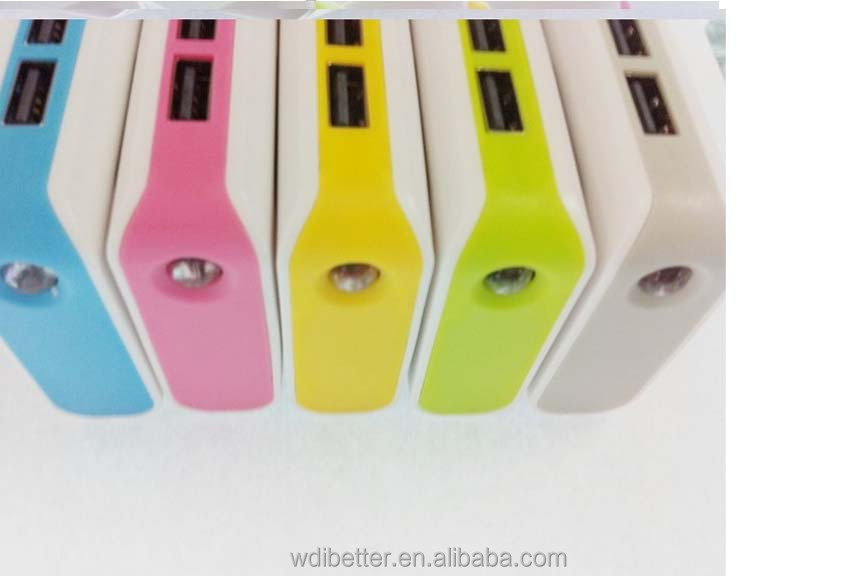 Colorful Universal Power Bank 5600mAh External Battery Backup USB Portable Cell Phone Charger For iPhone 4 4S 5C 5S iPad 2 3 4 S