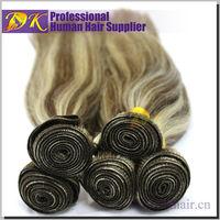 Ture Length Real Raw Virgin Human Hair brown/blonde mixed human hair extensions