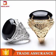 fashion design dubai platinum and gold plated zirconia rings mens jewelry