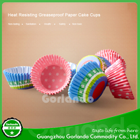 decorative greaseproof paper baking cases cupcakes