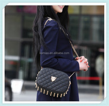 wholesale 2014 fashion chain studded pu woman leather shoulder messenger bag for cameras china