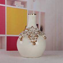 exquisite household art porcelain flower decor vase with grapes design