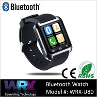 U80 Bluetooth Smart watch 2015 smartwatch touchscreen/Pedometer/Sleep Monitoring/Remote Control sync for Android