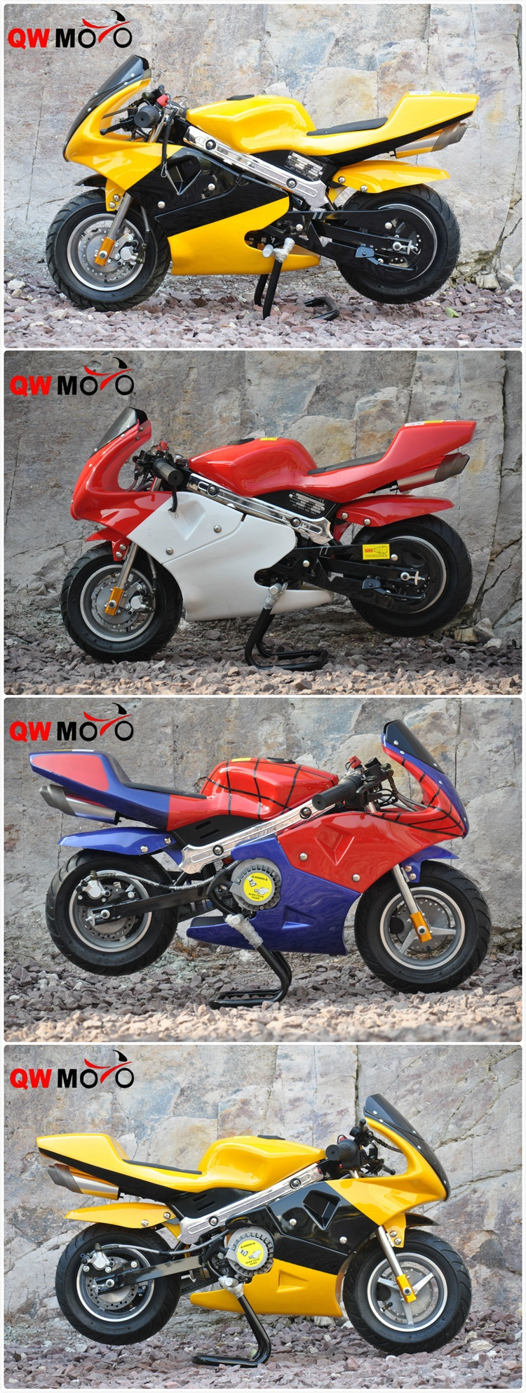 New racing 49cc 50cc air cooled mini moto pocket bike for kids with CE