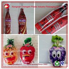 Cute kids love printing fruit shape juice bag/milk packing bag and pouch