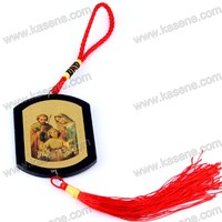 factory discount saint image religious products plastic car rosary