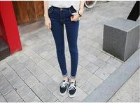 Europe AA super elastic waist jeans Slim skinny leg jeans female