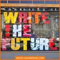 Loja de roupas resina letra do alfabeto bloco de exibição da janela, led assinar carta