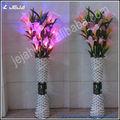 Navidad decorativos florero de regalo con flores artificiales dirigidas