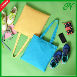 Very good quality colorful Art Cotton Canvas Tote Bag For Shopping