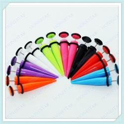 Hot selling solid color ear tapers earring jewelry, gauge earrings body jewelry