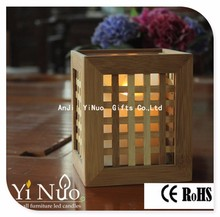 Special Inspired MILLARD HOUSE VOTIVE pillar Candle Holder Bamboo Wood