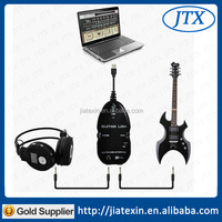 USB Guitar to PC/MAC Interface Cable Link Audio VOCAL Recording White Black