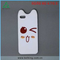 For iPhone 5/5s Cartoon Smart Rubber Case, Silicon Jelly Soft Cover Mobile Case For iPhone5/5S