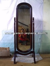 Antique Reproduction Standing Mirror - Wooden Home Furniture
