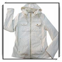 stock latest fashion pu leather jacket for women