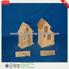 New Design Antique Natural Cheap Unfinished Hanging Wooden Bird House