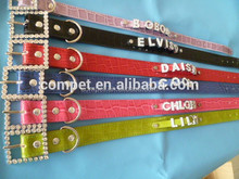 DIY collars with 10MM strap .Pu leather ,Dongguan