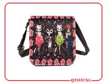 2015 fashion custom painting square casual handle bag