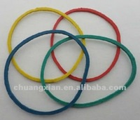 38mm color rubber band of natural rubber band mix color( yellow, green, blue ,red or request)