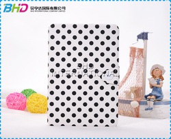 Fashion polka dot design for ipad mini case with card slot