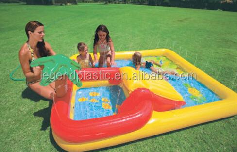 Gonflable enfants piscine avec toboggan gicleurs parc - Jouet gonflable piscine ...