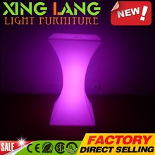 Gran cantidad cilíndrica moda placa giratoria luminosa DMX PE plástico RGB de cambio de color tabla de dibujos animados impermeable