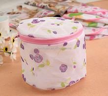 High quality household rose pattern mesh bra washing laundry bag