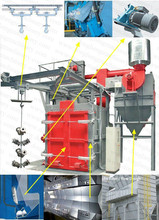 buffing dust-free Spinner hook shot blast cleaning machine for metal descaling of casting/welded/fabrication parts