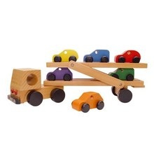 wooden toys truck and car,wooden transporter toy