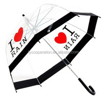 Transparent/clear love rain umbrella