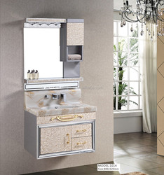 building materials modern house 2014 hot sale easy to clean good quality modern Style stainless steel bathroom vanity