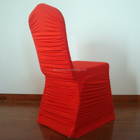 Red popular rouched spandex wedding chair cover for sale