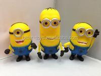 Disney aduit factory ,3D plastic pvc Despicable Me minon toy for wholesale,custom plastic toy figure