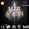 Trade Assurance 2015 hot selling big glass chandelier with crystal beads (NS-120037C)