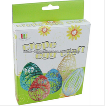 kids painting diy art and craft activity paper craft crates egg
