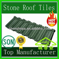 building materils guangzhou stone chips coated metal roofing tile