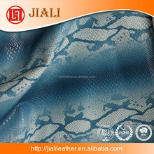 synthetic leather for handbag material pu leather faux snake skin