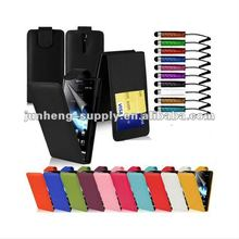 Leather Flip Series Case Cover Fits for Sony Xperia S Lt26i, Free Screen Protector