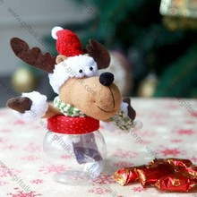 "Hot sale!! 6.25""H christmas reindeer decoration for storing candy"