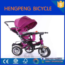 kids pedal car/ kid tricycle with canopy and pushbar